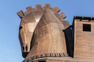 Caballo de Troya de madera