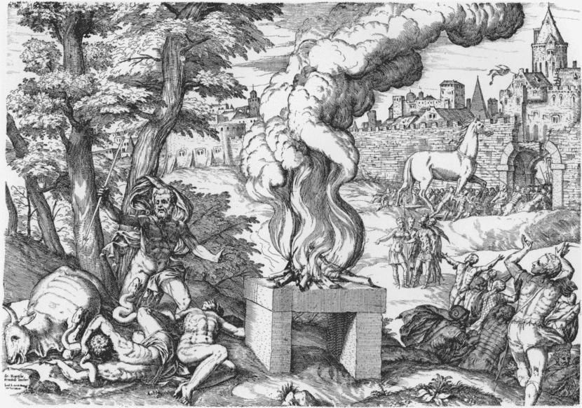 Pintura del Caballo de Troya