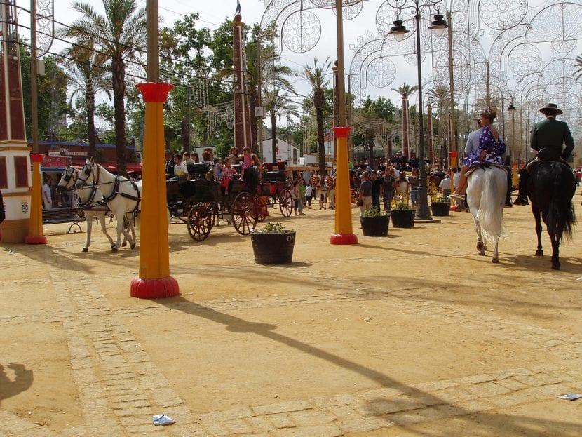 Parque donde se celebra la Feria del Caballo de Jerez