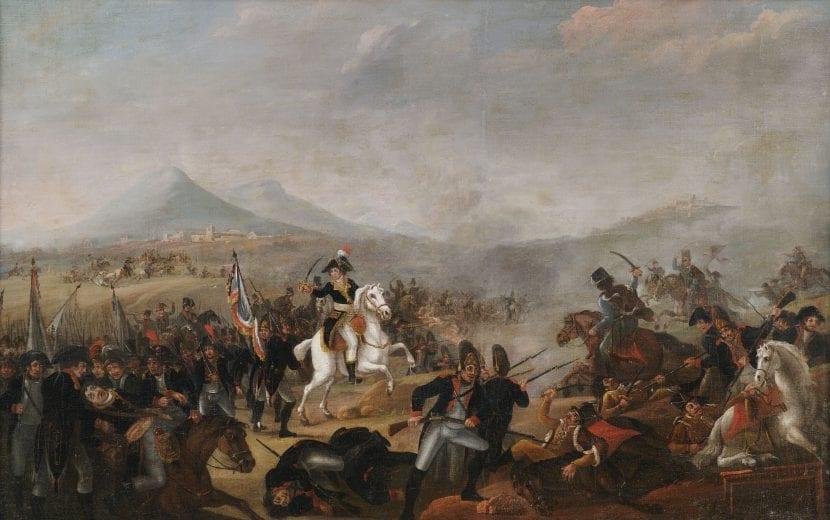 Napoleón con su caballo Marengo
