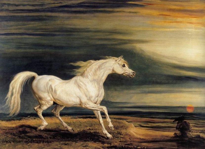 Pintura de Marengo, el caballo de Napoleón
