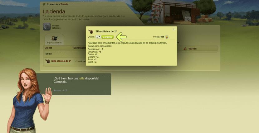 Sigue las indicaciones de tu guía para comprar en caballow