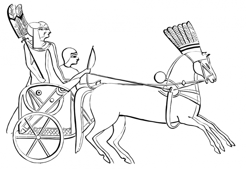 how to draw a horse and chariot