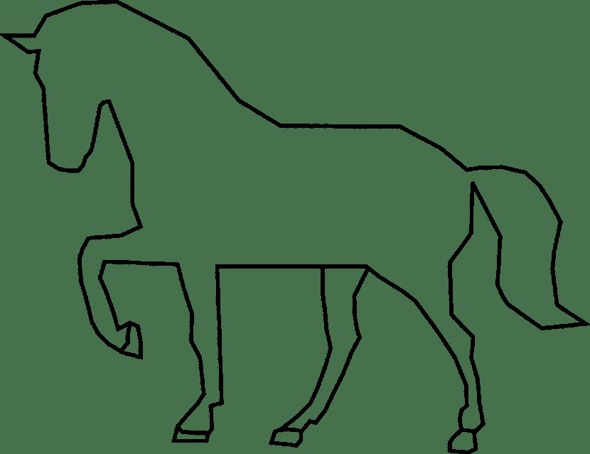 Dibujo de un caballo para colorear