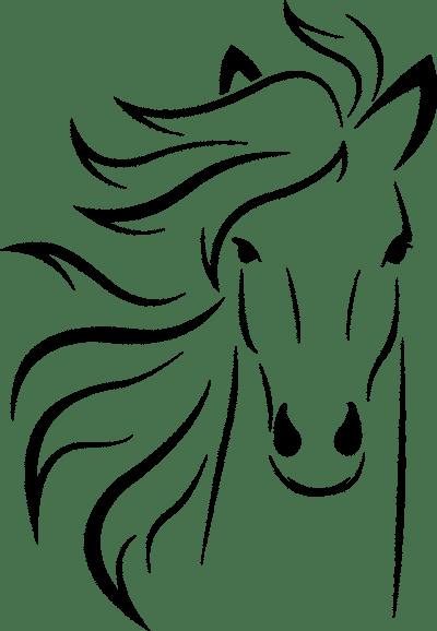 Dibujo de una cabeza de un caballo