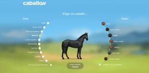 Elige un caballo en Caballow que te guste