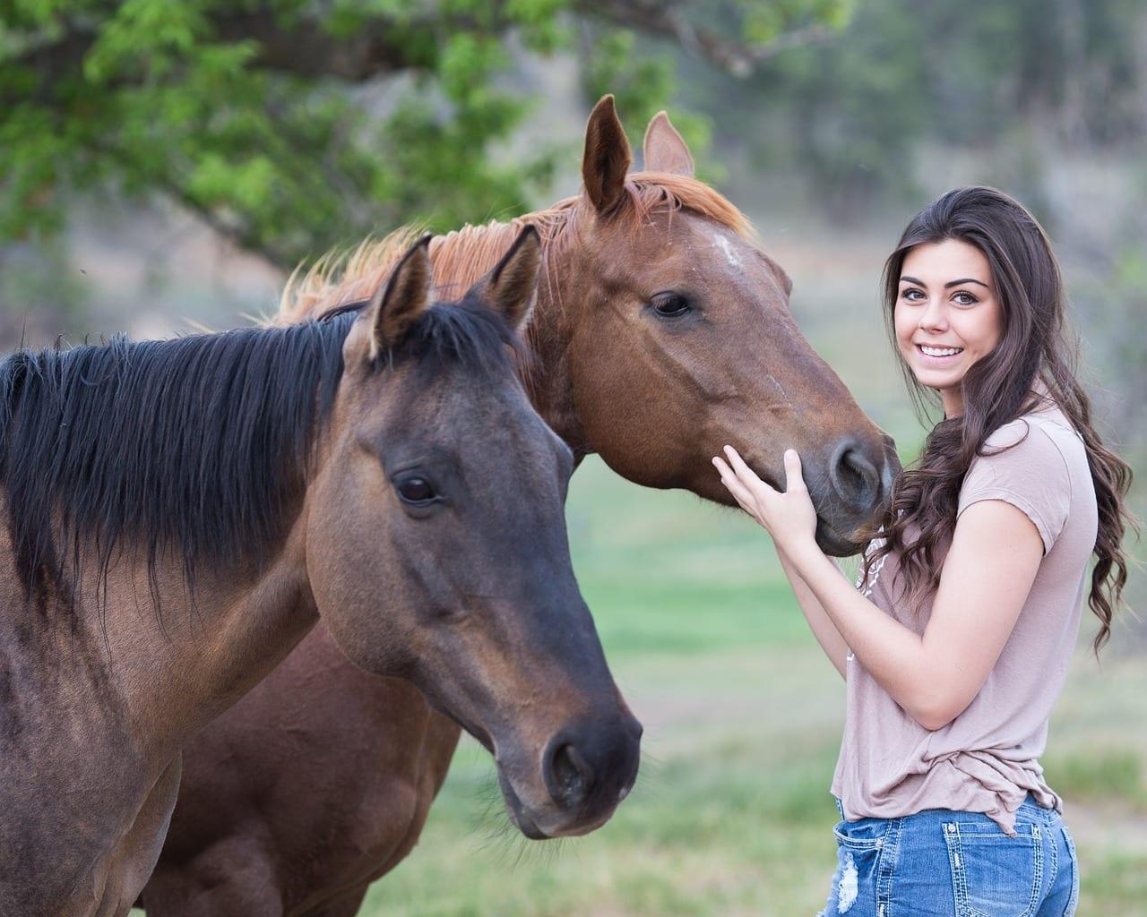 Trata a tu caballo con respeto y paciencia cuando le quites una garrapata