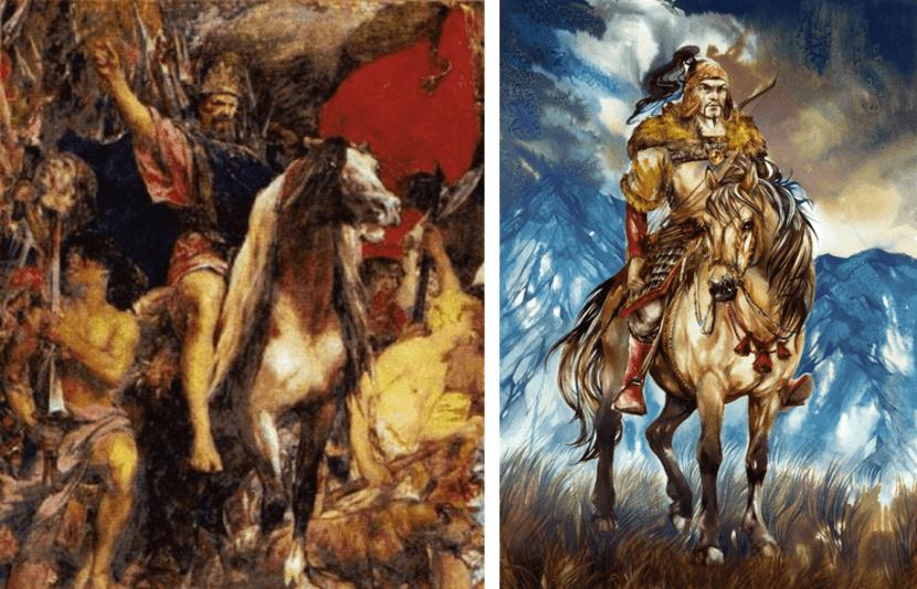 Imágenes de Atila y su caballo